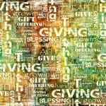 giving word collage
